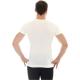 Brubeck Comfort Wool Koszulka męska z krótkim rękawem kremowa