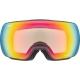 Uvex Compact V Gogle narciarskie variomatic anthracite mirror rainbow