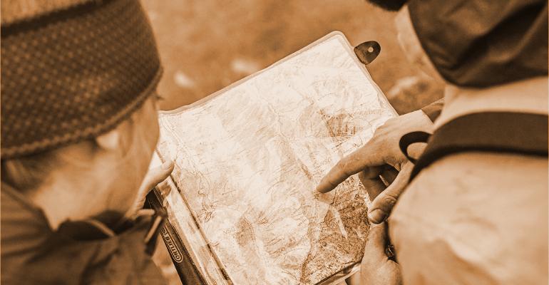 mapnik rowerowy chroniący mapę przed warunkami atmosferycznymi