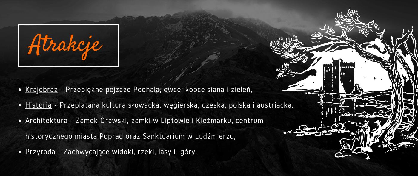 atrakcje rowerowego Szlaku Wokół Tatr