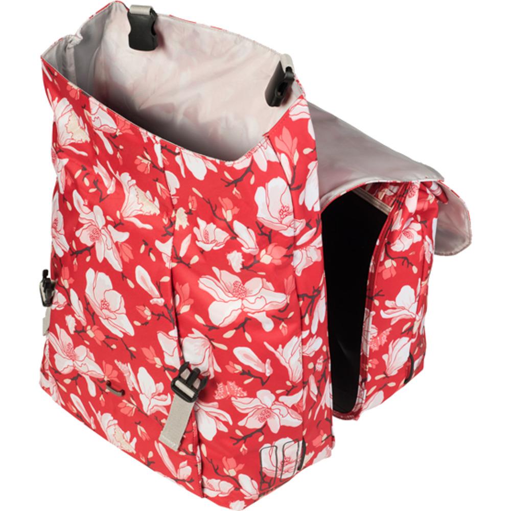Basil Magnolia Double Bag Torba na bagażnik poppy red